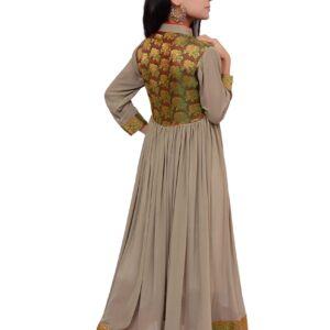 Green Shamoz Frock with Jamawar Trousers